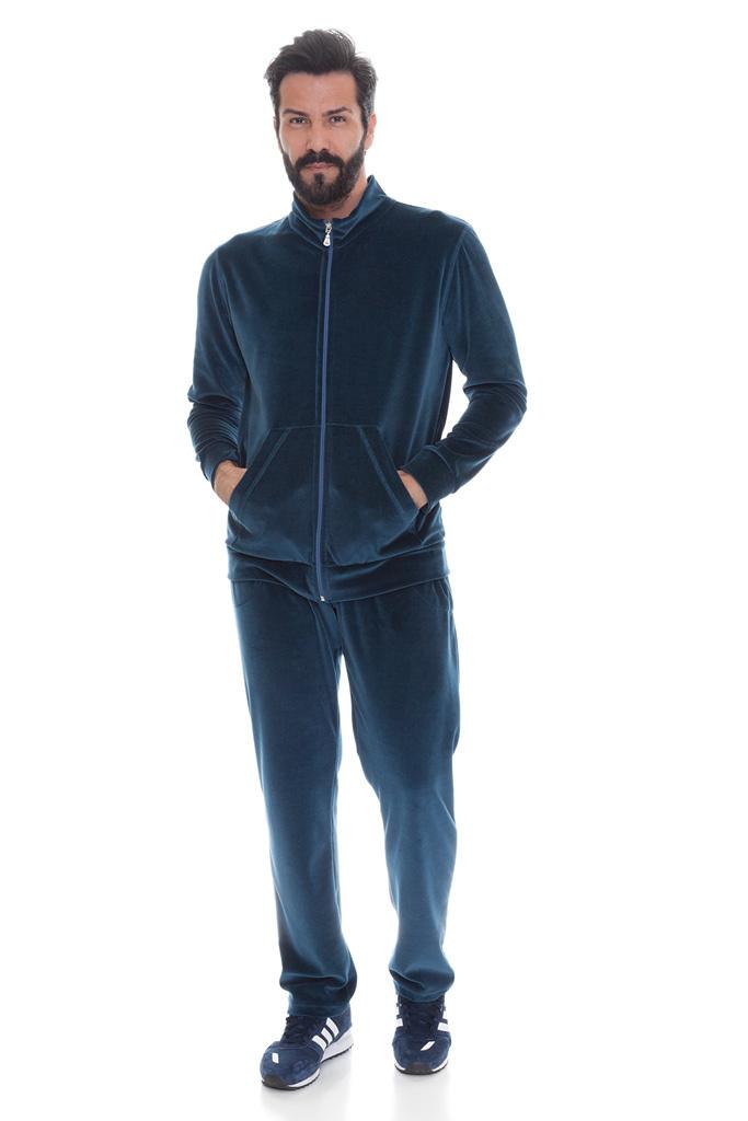 Велюровый мужской костюм на молнии B&B