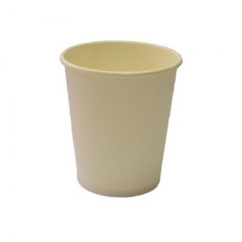 Стакан одноразовый бумажный бел., 200/250 мл, 75 шт/уп. однослойный