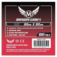Протекторы для настольных игр Mayday Medium Square Card (80x80) - 100 штук