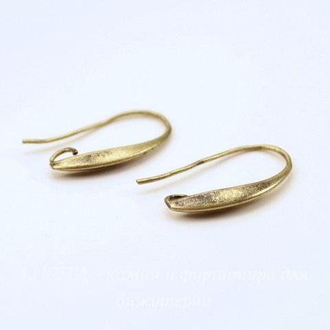 Швензы - крючки, 20х2 мм (цвет - античная бронза), пара