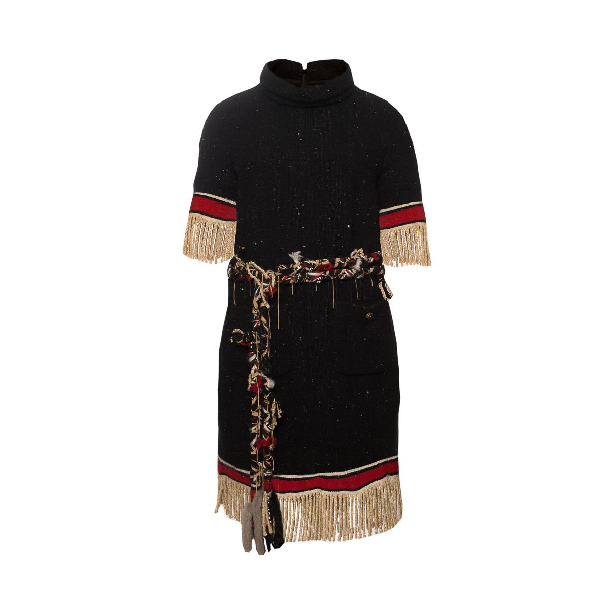 Роскошное платье из кашемира с шелком от Chanel, 44 размер.