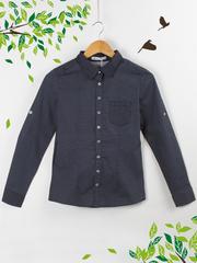 21091 рубашка женская, темно-синяя