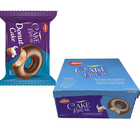 CAKE BREAK DONUT пончик с молочным кремом, покрытый шоколадом 1кор*6бл*24шт 50гр.