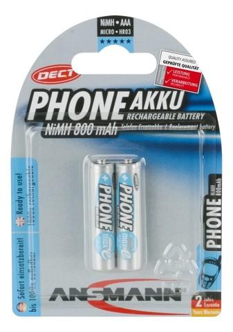 Аккумулятор ААА/NiMH ANSMANN MaxE 1.2V 800mAh Phone