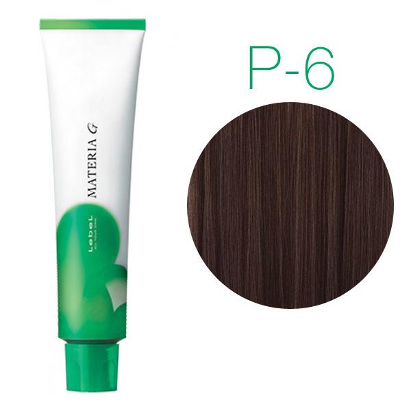 Lebel Materia Grey P-6 (тёмный блондин розовый) - Перманентная краска для седых волос