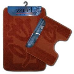Набор ковриков для ванной Zalel 55х85 см ворс, терракотовый