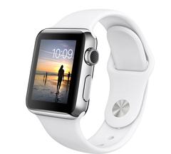 Часы смарт Apple Watch 38мм (белый полимерный ремешок)