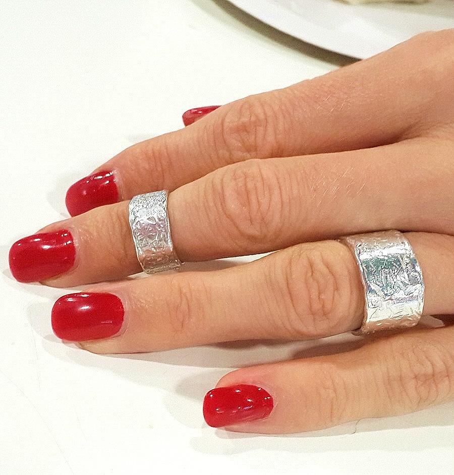 Midi rings, sterling silver