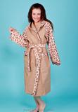 Длинный халат с капюшоном Spaziale Splendy