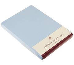 Простыня 180х200х30 Luxberry (Т) Трикотаж Джерси голубая
