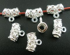 Бейл ажурный 11х5 мм (цвет - серебро)
