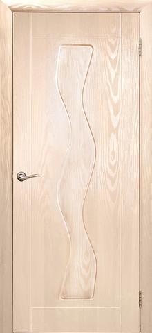 Дверь Дубрава Сибирь Водопад, цвет беленый дуб, глухая