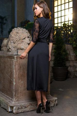 Халат женский с  кружевом   MIA-MIA  Elegance de lux ЭЛЕГАНС 12039