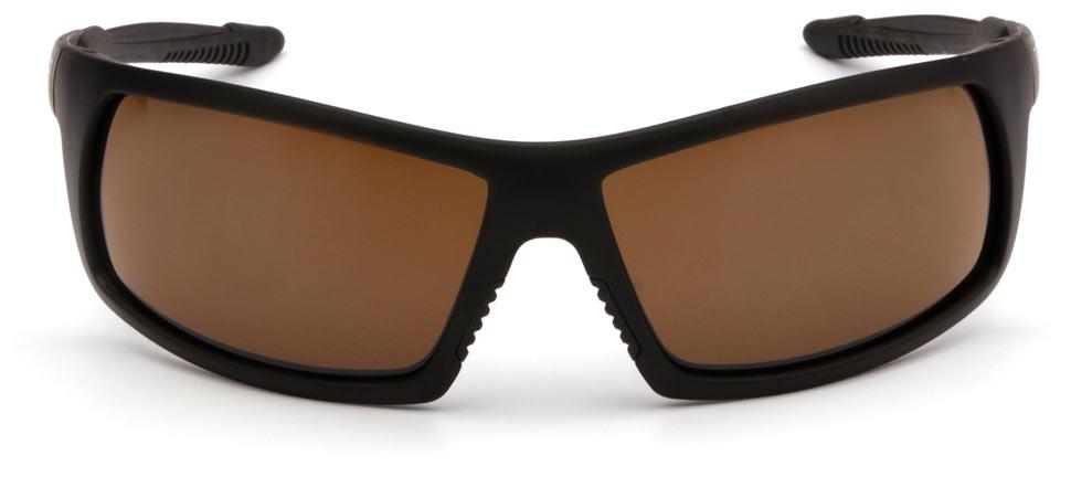 Очки баллистические стрелковые Pyramex Stonewall VGSB418T Anti-fog коричневые 23%