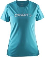 Женская футболка для бега Craft Prime Logo (1903175-1653) голубая