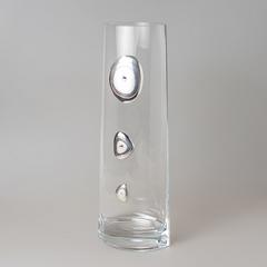 Ваза декоративная 37 см серебро 937/336
