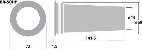 Фазоинвертор BR-50HP