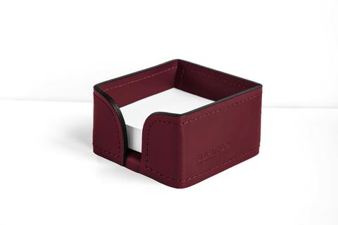 Лоток для блока бумаги BUVARDO из кожи цвет БОРДО