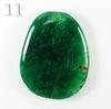 """Подвеска Агат """"Крэкл"""" (тониров), цвет - темно-зеленый (№11 (52х40 мм))"""