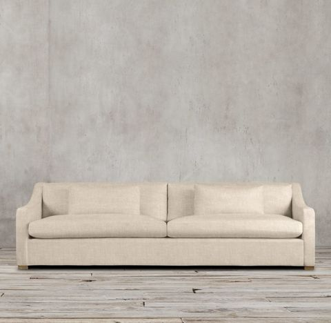 Belgian Classic Slope Arm Two-Seat-Cushion Sofa