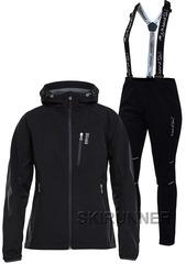 Женский лыжный утепленный костюм 8848 Altitude Snake Black 17 Nordski Premium