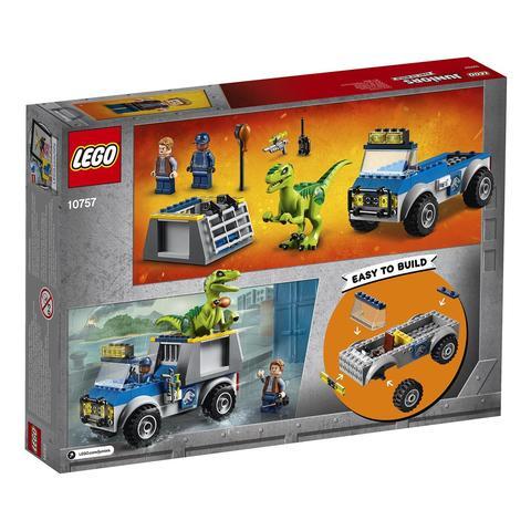 LEGO Juniors: Jurassic World — Грузовик спасателей для перевозки раптора 10757 — Raptor Rescue Truck — Лего Джуниорс Подростки Мир юрского периода
