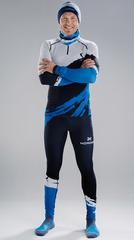 Детский Раздельный лыжный гоночный комбинезон NordSki Premium Blue-White 2020