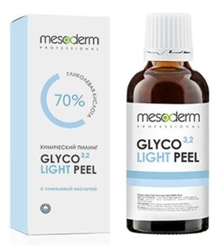 Гликолевый химический пилинг 70%, pH 3,2 Глико Лайт Пил ,Glyco Light Peel Mesoderm, 30 мл.