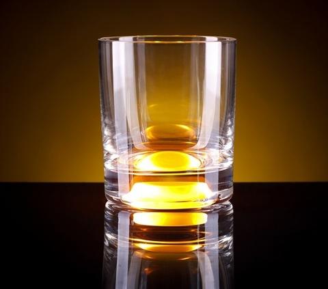 Светящийся стакан для виски GlasShine, желтый