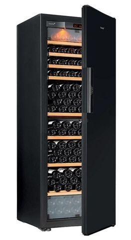 Винный шкаф EuroCave E-Pure-L сплошная дверь Black Piano, цвет чёрный, стандартная комплектация