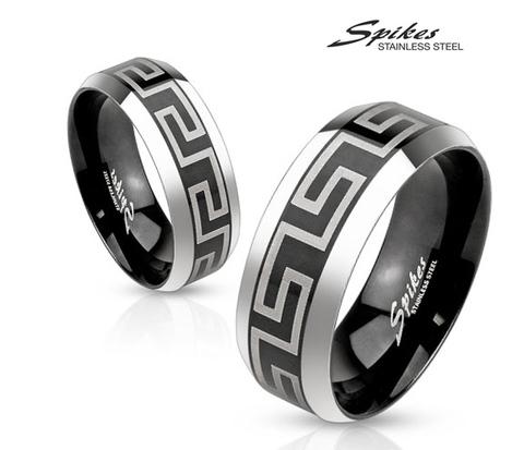 Мужское кольцо из ювелирной стали с орнаментом, «Spikes»
