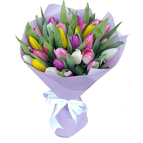 Букет микс из 35 тюльпанов 1