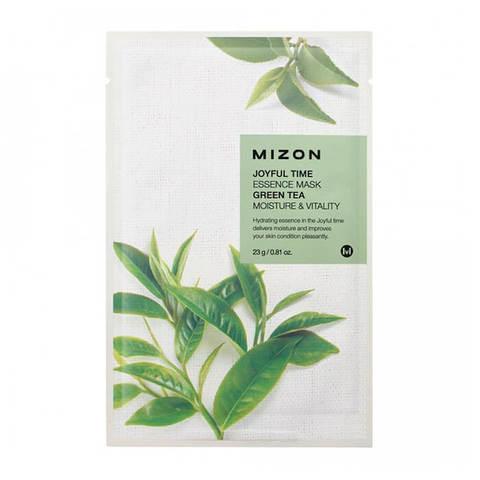 Mizon Joyful Тканевая маска для лица с экстрактом зеленого чая 23г