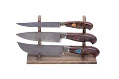 Стойка из дуба для 3 ножей
