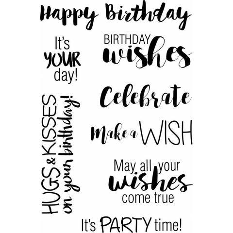 Набор силиконовых штампов -Birthday Wishes