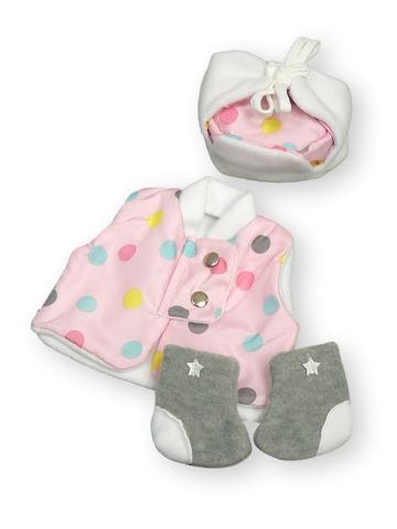 Зимний комплект - Розовый. Одежда для кукол, пупсов и мягких игрушек.