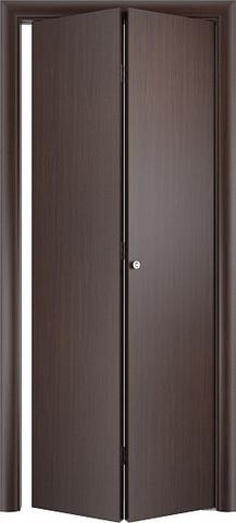 Дверь складная Верда ДПГ (2 полотна), цвет венге, глухая