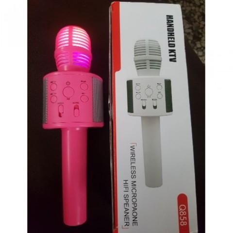 Микрофон караоке Handheld KTV Q858 2 в 1 беспроводной