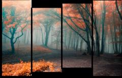 """Модульная картина """"Туманный лес"""""""
