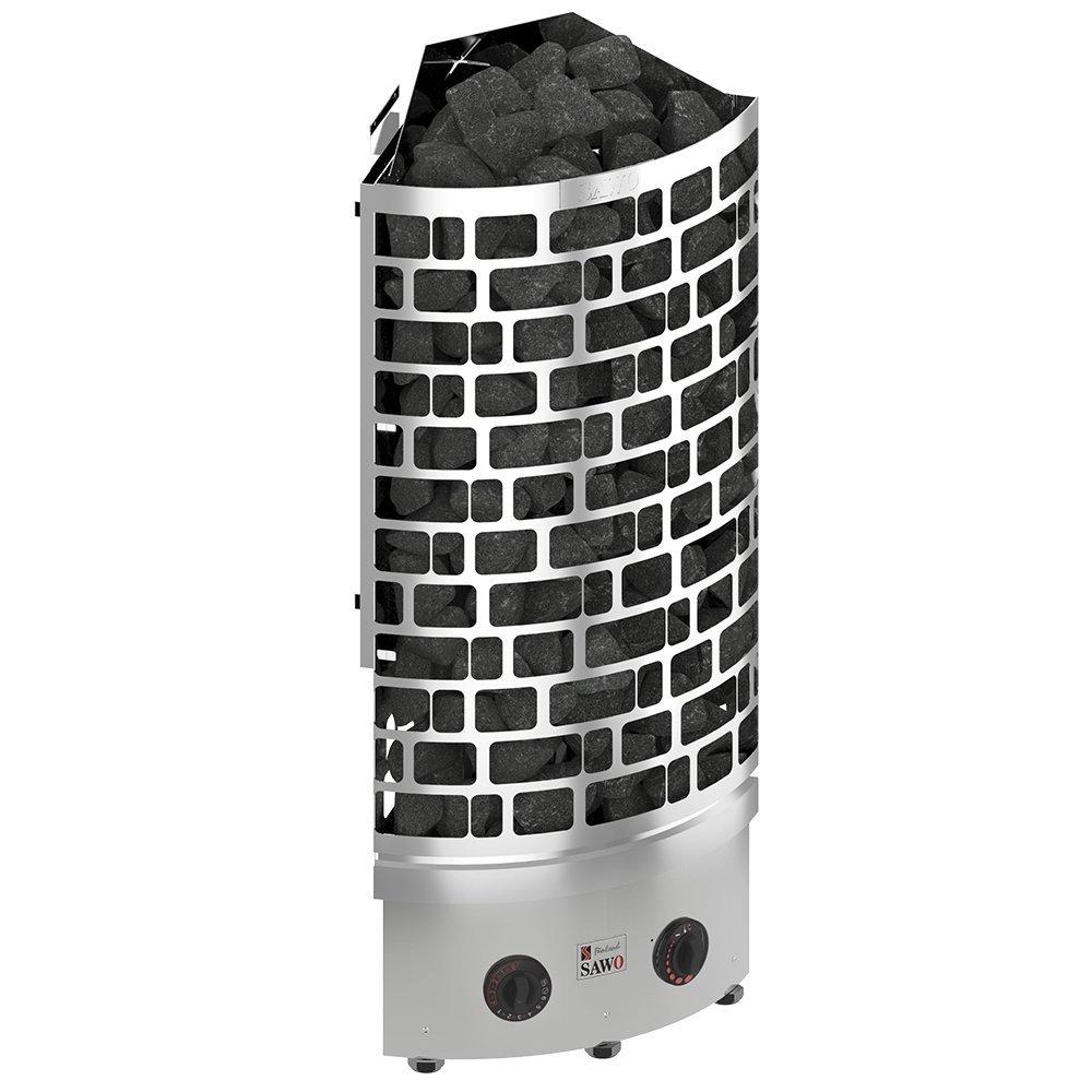 Серия Aries: Электрическая печь SAWO ARIES ARI3-45NB-CNR-P (4.5 кВт, угловая, нерж. сталь, со встр. блоком упр.)