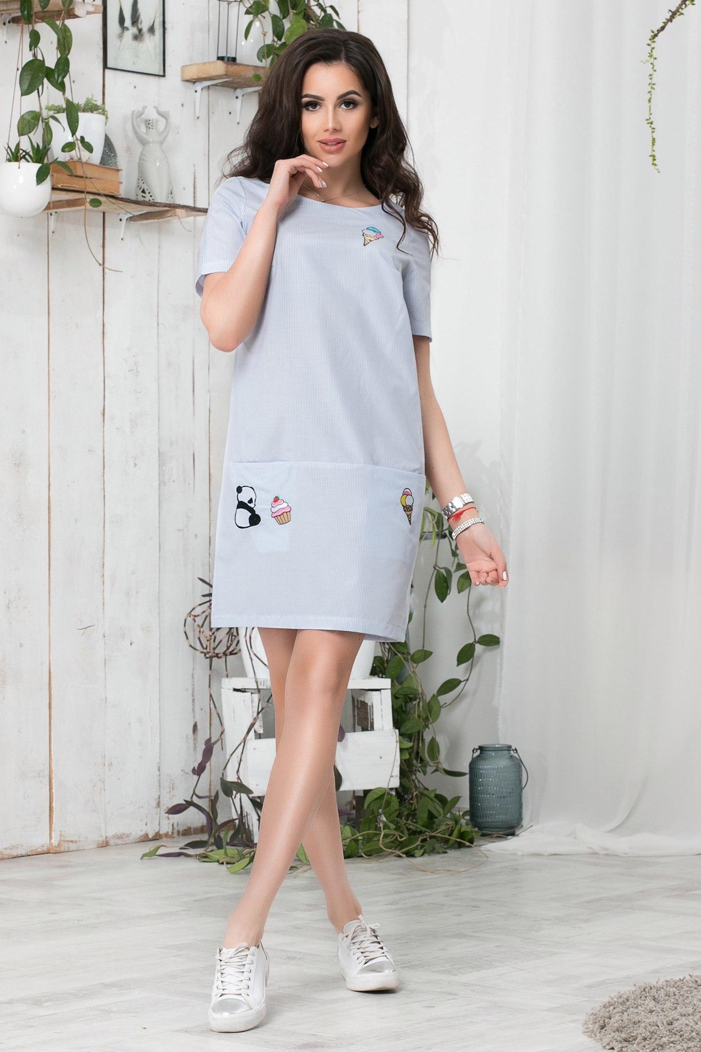 e2580cf05d6 Короткое летнее платье с апликацией