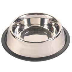Trixie миска металлическая с резинкой, диаметр 17 см 0,9 л