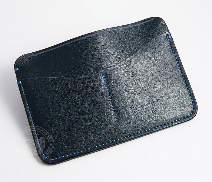 BC122-3 Обложка синего цвета для документов и карт ручной работы, «Boroda Design» фото 02
