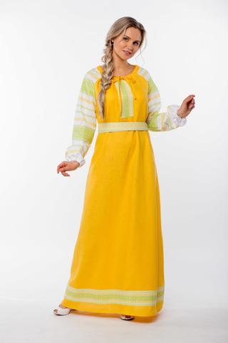 Платье льняное Ясно солнышко