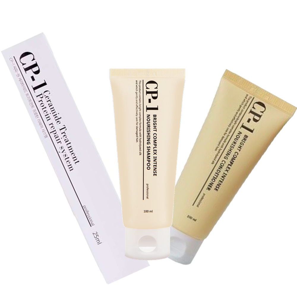 Esthetic House Шампунь + Кондиционер + Маска для волос CP-1 Shampoo + Conditioner + Treatment, 100+100+25 мл