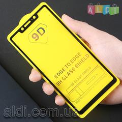 Защитное стекло Xiaomi REDMI NOTE 6/6PRO/MI8 LITE 2,5D ЧЕРНЫЙ Full Glue полное покрытие/проклейка 3D 5D 6D 9D