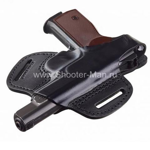 Кобура кожаная для пистолета Стечкина поясная ( модель № 2 )