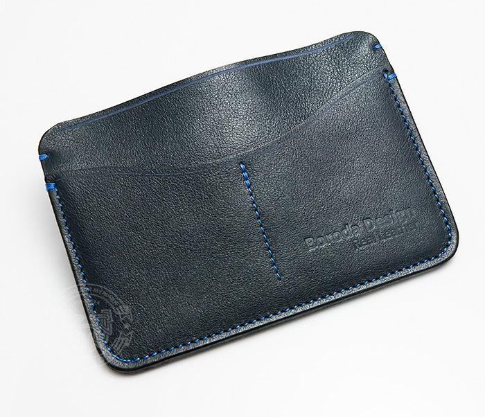 BC122-3 Обложка синего цвета для документов и карт ручной работы, «Boroda Design» фото 03