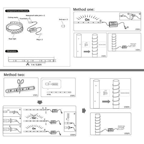 схема подключения белого дюралайт