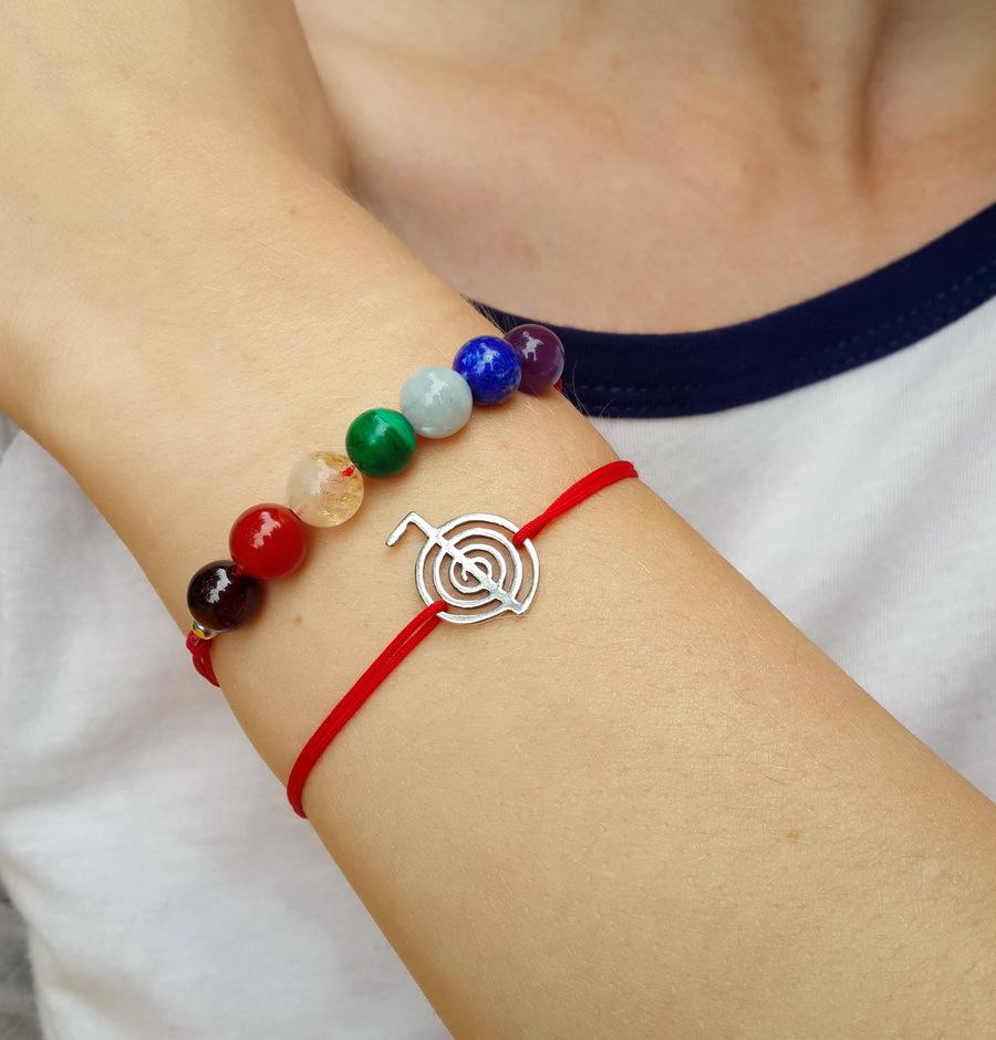 7 chakras bracelet, natural stones